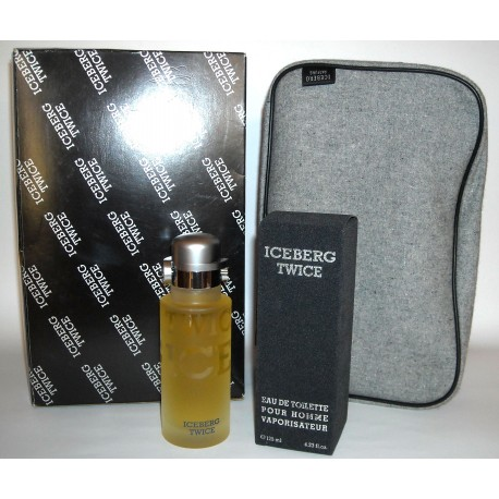 Twice Pour Homme Iceberg for men Eau de Toilette 125ml EDT+ beauty case da viaggio