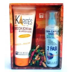 Les Karites Doccia Schiuma al latte di karite + Cura Capillare Bifase 125ml + Chou C