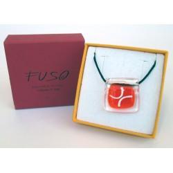 Esclusivo Ciondolo collana in vetrofuso arancio / bigiotteria realizzata in Italia