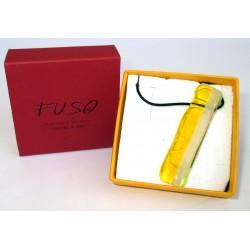 Esclusivo Ciondolo collana in vetrofuso giallo-bianco / bigiotteria realizzata in Italia