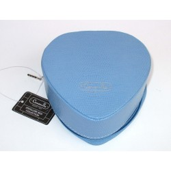 Beauty Case - Heart Shape Zipper Box - PU Light Blue portagioie anelli