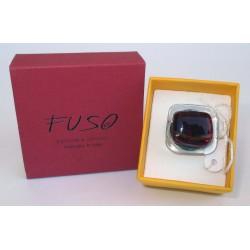 Esclusivo Anello in vetrofuso rosso vino realizzato in Italia