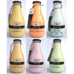 AQUOLINA Latte Corpo idratante 500ml al Mandarino, The Verde, Fragolina di bosco, Marzapane, Creme Caramel, Pesca e Albicocca