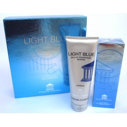 Light Blue, dolce fragranza marina for woman PIAZZA NAVONA 100ml EDT + Crema corpo 250ml