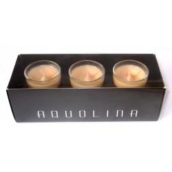 AQUOLINA - candele profumate q.tà 3 x 35g - amaretto fragrance
