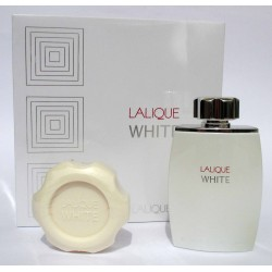 Lalique White by Lalique for men Eau de Toilette 125ml EDT + perfumed soap 150g - Confezione Regalo