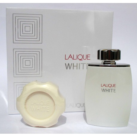 Lalique White by Lalique for men Eau de Toilette 125ml EDT + perfumed soad - Confezione Regalo