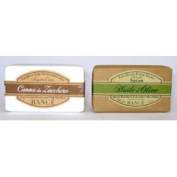 Rance 1975 - Sapone Emolliente Pelli Sensibili 150 g Canna da Zucchero e Olio d'Oliva - Savon - Soap