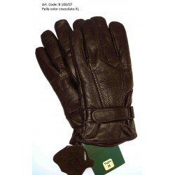 Esclusivi Guanti Uomo in vera pelle Nera Tg. M - 189/P Nuovo - Black Leather Original Nero