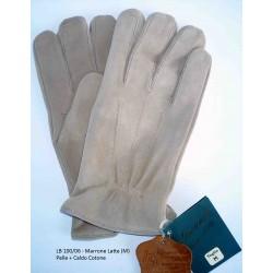 Esclusivi Guanti Uomo in vera pelle Cioccolato Tg. XL - 199/P Nuovo - Brown Leather Original
