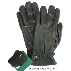Esclusivi Guanti Uomo in vera pelle Nera Tg. M - Nuovo 516/D - Black Leather Original Nero