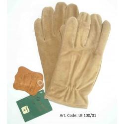 Esclusivi Guanti Uomo in vera pelle scamosciata - marrone chiaro Tg. M - Nuovo - Brown Leather Original