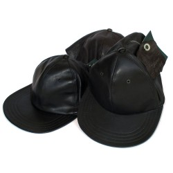 Berretto tipo Baseball 100% vera pelle firmata Leonardo Taglia 56-60 - made in Italy - Firenze