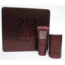 212 Sexy Men by Carolina Herrera for men Eau de Toilette 50ml EDT + Shower Gel 100ml - Confezione regalo