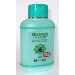 Shampoo all'Aloe Vera per lavaggi frequenti e per ogni tipo capelli 500ml - Ideale per capelli fini e fragili
