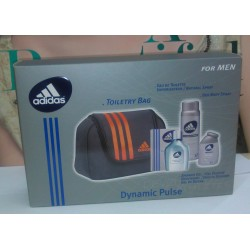 Adidas Dynamic Pulse for Men Toiletry Bag EDT 100ml + Shower gel 100ml + Deo 150ml