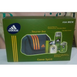"Adidas Game Spirit For men Toiletry Bag "" EDT 100ml + Shower Gel 100ml + Deo 150 ml"""