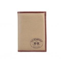 La Martina - L31PM0767043 Portafoglio uomo 100% pelle - porta carte di credito, porta documenti