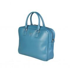 Borsa Bag da lavoro (sera) porta computer documenti TRUSSARDI 75B604T con tracolla - verde acqua -Fashion Style