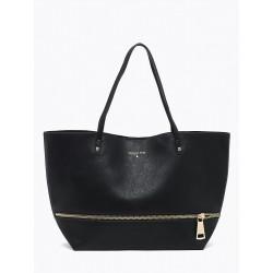 Patrizia Pepe Borsa Shopping Donna nero con pochette interna