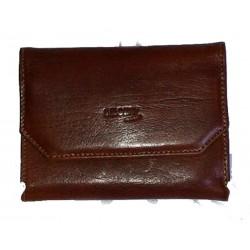 Portafoglio uomo classico portassegniSmokit 100%pelle original leather marrone