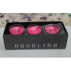 Aquolina candele profumate q.tà 3x 35gr. fragranza Mousse di Fragola RARE