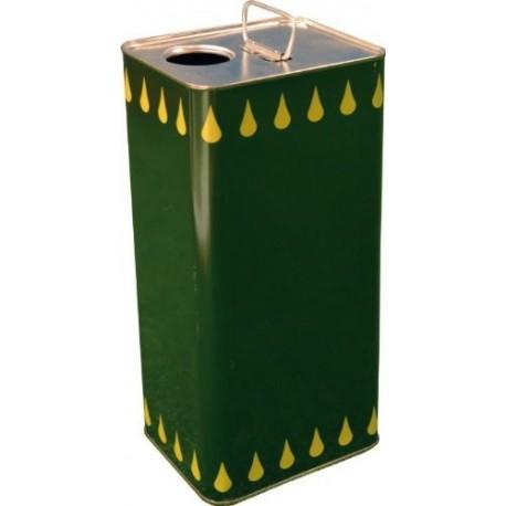 Latta per trasporto olio lt. 5 colore verde per alimenti con tappo
