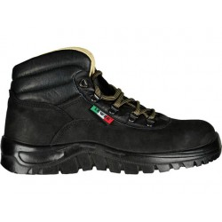 Scarpa antinfortunistica cat. S3 collo alto, nero, in pelle 39, 40, 41, 42, 43, 44, 45, 46