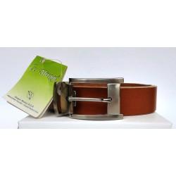 Low Cost - Cintura Uomo in vera pelle/cuoio cognac LE MIRAGE 120cm - Nuova