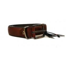Low Cost - Cintura Uomo in vera pelle/cuoio testa di moro - Charro - tg. 110 cm