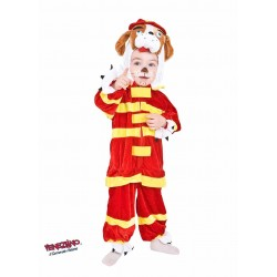Costume Carnevale bimbo Taglia 3, Fido Vigile Del Fuoco cod. 88082- Veneziano