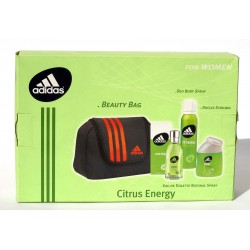 "Adidas ""Citrus Energy"" Beauty Bag + Eau de Toilette 50ml + Doccia Schiuma 100ml + Deo body Spray 150ml"