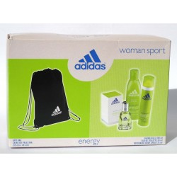 "Adidas ""Energy"" Woman Sport - EDT 30ml + shower gel 200ml + deospray 75ml + Gym Bag"