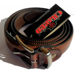 Cintura Marrone - Cioccolato 100cm Charro Split Cowhide (pelle) Made in Italy n°1302