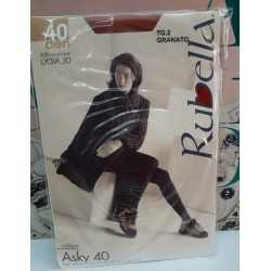 Collant Asky Tipo velluto in Lycra 3D 40 Den. Col. Mosto Tg. 4
