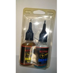 Brunitore per metalli in acciaio o ferrosi KENTRON COLD BLUE + FIX BLUE 50 ml.