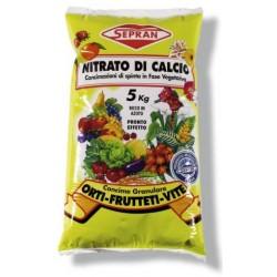 Nitrato di Calcio Sepran da 5 Kg - Concime di spinta idealte per colture