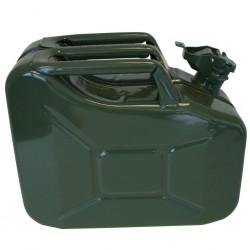 Tanica 10 Litri colore verde metallo power rivestito trasporto liquidi benzina