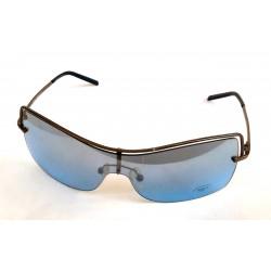 Occhiali da sole Borca 1979 unisexa mascherina ad asticine metalliche e lenti blu sfumato