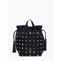 Borsa Bag Patrizia Pepe Black Rivets 2V6595/A2XI