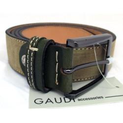 Cintura Uomo GAUDI color Nabuk Green 130cm in camoscio e pelle V4A67142T - 67142