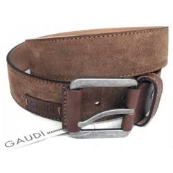 Cintura Uomo GAUDI color Nabuk Brown 130cm in camoscio e pelle V4A67089 - 67089