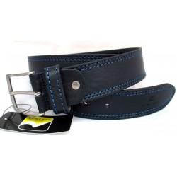 Cintura Uomo Roncato Vera Pelle - nero con impunture blu/nero 120cm cod.100540