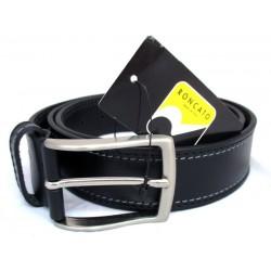 Cintura Uomo Roncato Vera Pelle - nero con impunture grigio 120cm cod.10005/40