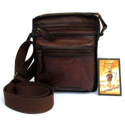 Borsello Uomo AVIREX Cross body bag small Brown Wildfire WLD-22007-BW