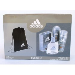 "ADIDAS DYNAMIC"" Eau de Toilette 100ml + Deo Body Spray 150ml + Shower gel 150ml + Gym Bag"