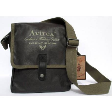 super popolare 791be 3e5ab Borsa Borsello Uomo AVIREX Cross body bag Alifax Brack and Green AVX-ALF-A11