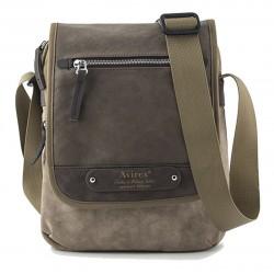 Borsa Borsello Uomo AVIREX Cross body bag with flap Ventura Brown / Beige VNT-1647-01A-BWBG