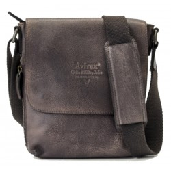 Borsa Borsello Uomo AVIREX Cross body bag small with flap TigerFly Brown AVX-TGF-306-BW
