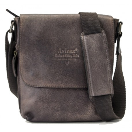 design di qualità 42a52 72f1d Borsa Borsello Uomo AVIREX Cross body bag small with flap TigerFly Brown  AVX-TGF-306-BW